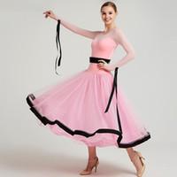 Etapa desgaste mujeres salón de balones vestidos de vals baile de baile de la competencia vestidos estándar de traje español danza