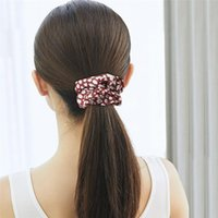 Satin Fabric Scrunchies Hair Ring Pony Tails Holder Hair Elastics Ties Hair Bands fashion Headband jewelry
