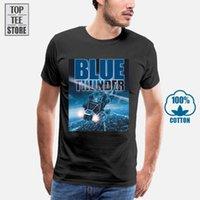 T-shirt da uomo 2021 Cool Blue Thunder Helicopter Old School 80's Stampa 3D Tee Shirts Manica corta di alta qualità