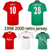 1998 1999 2000 Owen Gerrard Retro Futbol Forması 98 99 Eve Dight Berger Fowler Mcmanaman Heskey Carragher Klasik Vintage Futbol Gömlek