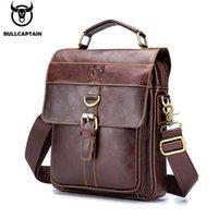 BULLCAPTAIN retro business messenger bag leather mens shoulder bag fashion casual handbag teen student bag