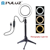LED Ring Light Video Photography Selfie Lamp Dimmable with C...