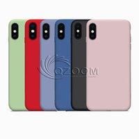 아이폰 모방 액체 실리콘 TPU 케이스 (11) 프로 맥스 X XR XS MAX 아이폰 8 7 플러스