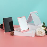 Unique Design LED Makeup Mirror Folding Portable Compact Pocket Lady Led Mirror Adjustable Light DHL Shipping