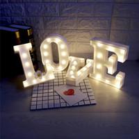 26 رسائل وايت LED ضوء الليل سرادق تسجيل الأبجدية مصباح لحفلة عيد الميلاد الزفاف نوم تعليق على الحائط ديكور S025M