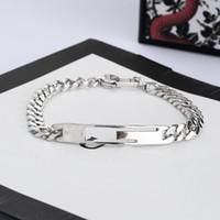 Unisex Üst Kalite Gümüş Kaplama Bilezik Kişilik Charm Bilezik Moda Takı Arz İçin Yeni Klasik mektup Bilezik