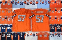 NCAA Vintage Fußball genäht Herren Jersey Shannon Sharpe John ELway 27 Steve Atwater 49 d.smith 77 Mecklenburg 30 Davis 65 Zimmerman