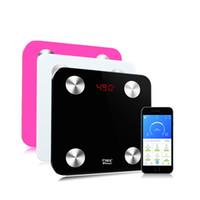 Amazon топ продавец батареи LCD Смарт Chargeable 280 * 280мм Электронная Вес цифровой ванной Bluetooth APP API Body Fat весы
