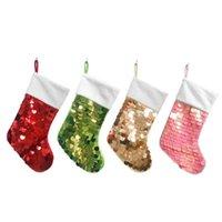 fashion Colorful Christmas decorations Sequin Christmas socks gift bag For men and women Christmas bag Pendant SS51345