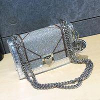 2021 Luxus Designer Diamant Crossbody Bag Mode Leder Schulter Messenger Kupplungen Taschen Beiläufige Kette Hohe Qualität Luxurys Handtaschen Damen Handtaschen