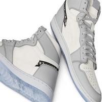 Cheap 1 High Olimpiadi Grigio 2020 di pallacanestro del Mens scarpe firmate Sneakers Trainers 1s in rilievo sulla tomaia Cesti fondo in cristallo