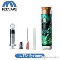 LTQVAPOR siringa di vetro Kit 1,0 ml 2,0 ml Luer Lock vapore iniettore con punta d'ago per il riempimento di spessore Oil