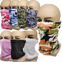 Magischer Schal Sport Sweat Neckercheif Tarnung Bandanas Mode-Gesicht Quick Dry Radfahren Radfahrer Schals Camo Facemask Mundschutz E81303 Maske