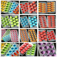 Großhandel Gummi Eiswürfel Kreative Obst-Maschine Freeze-Form-Eis-Würfel-Behälter Eis-Herstellung Box-Form für Küchenparty Werkzeuge DBC DH0632