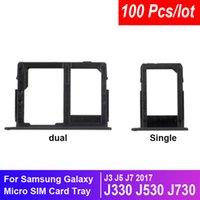 100pcs / lot Nouveau Simple / Dual SIM pour Samsung Galaxy J3 J7 J7 2017 / J330 J530 J730F J730F SIM Titulaire d'accessoires Adaptateur