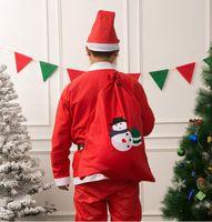 عيد الميلاد سانتا كيس غير المنسوجة أكياس هدية حلوى الكوكيز هدية حقيبة الرباط حزمة التخزين مع ثلج شجرة زينة عيد الميلاد GGA3754-3