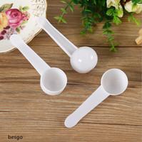 10мл 5g измерения Пластиковый совок PP мерная ложка белого пластика Измерение совок еды Измерить Ложки Milk Powder Ложка инструмент кухни DH2568 DBC