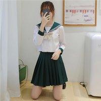 Hochwertige School Student JK Uniform Korean Preppy Seemann Kleidung Frauen Mädchen Anime Kleid Schüler Uniformen der britischen Art Cosplay Kostüm