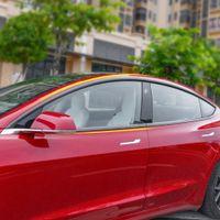 Для Tesla Model 3 2017-2020 автомобилей из нержавеющей окна средней колонке Столб крышки наклейки кадра Внешний формовочной обрезки украшения
