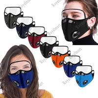 Ciclismo Máscara Outdoor Dust-proof gota-prova com óculos de proteção respiração Válvula protecção facial máscara com olhos Escudo 7 Estilo frete grátis