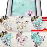 g32b3 Winter Scarf Wraps flowers Silk Business Scarfs embroi...