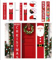 180 * 30cm 26 estilos Decorações de Natal para home alpendre sinal decorativo porta bandeira pendurado feliz Natal xmas enfeites fy7169