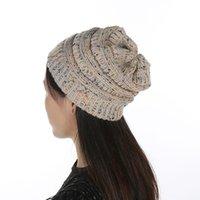 الشتاء بيني 25 الألوان المرأة محبوك القبعات الدافئة فضفاض تمتد حك مكتنزة كابل قبعة تزلج كاب الرئيسية الطرف القبعات LJJO8299