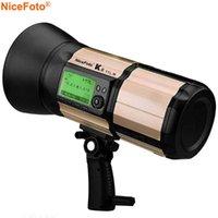 NiceFoto K8 800Ws GN103L HSS 1 / 8000S 2.4G Bateria sem fio Desenvolvido em Flash 1.8s Reciclagem rápida para câmeras DSLR
