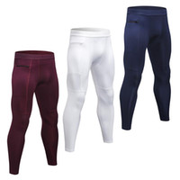Paquet de 3 hommes Pantalons Compression Stretchable Bodycon absorbant l'humidité Quick Dry Collants running Workout Leggings Vêtements de sport