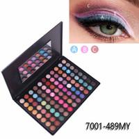 88 Farben-Schimmer-Mattaugenschatten Palette Augen Makeup-Profi Bunte Palette wasserdicht Lidschatten-Puder