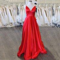 Simples fushia elegante vestido de noite longa espaguete cintas vestido formal festa vestido simples lace up vestido de baile de baile