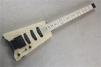 Original Körper Headless 24 Bünde E-Gitarre mit schwarzer Hardware, Ahorn Griffbrett, SSS Pickups, kann angepasst werden