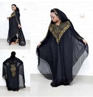 Dress African Dimensioni Dashki Diamond Beads Dress African Abito Abaya Dubai Abaya Sera musulmana Sera con cappuccio
