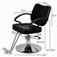 Waco Kadınlar Kuaför Sandalye, Styling Ağır Hidrolik Pompa Salon Mobilya Güzellik Şampuan Baver Sandalye Saç Stilist Berberler, Siyah