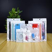 Chiaro + White Pearl sacchetto di plastica Poly OPP imballaggio Zipper dettaglio Pacchetti borse in PVC per iPhone Pro 11 Max X XS 8 7 Plus Samsung Galaxy S20 S10