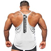 Neue Marke Fitness Bekleidung Bodybuilding Stringer Tank Top Men Cotton Curved Saum Ärmel Shirt Y zurück Workout Fitness-Studios Vest MX200815