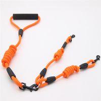 Cani Doppia corda in nylon cammino 2 due cani guinzaglio accoppiatore doppio doppio piombo a piedi guinzaglio al guinzaglio colletto opzionale