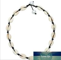 Jewelry Wire Bianco Handmade europea naturale di Shell di modo delle collane nodo nero Peal collana di coppia Choker per le donne Vendita