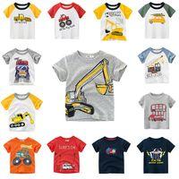 2020 الاطفال التي شيرت للبنين T قميص الكرتون سيارة نمط القمم الطفل تي شيرت للبنات فتى تي شيرت أزياء الأطفال تيز