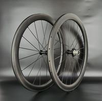 700C عجلات الكربون الطريق 50MM عمق 25MM عرض الطريق الدراجة دراجة الفاصلة / لايحتاج / أنبوبي الكربون العجلات U- الشكل حافة مع سطح الفرامل spefail
