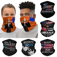Biden Trump magie Bandana Foulard 23 Styles USA Election multi fonction anti protection poussière Masque Scarf lavable Masques Cyclisme OOA8292