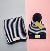Cappello sciarpa del vestito del 2020 Moda Autunno Inverno cappello e sciarpa per le donne Bambino solido vestito di colore Beanies Hat Cap E Snood Ragazzi Ragazze