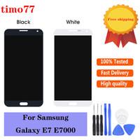 temperli cam ile Samsung Galaxy E7 E700 E700F E7000 E7009 için bir test LCD Ekran Dokunmatik ekran Sayısallaştırıcı Değiştirme tarafından Orijinal bir