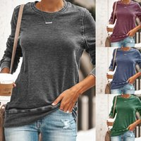 Casual Pullover T Shirt Women Long- Sleeve Womens Tee Shirts ...