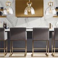restaurante Nordic levou cabeça de luxo luz do candelabro único retro criativo bar pendente contra acende bolha de vidro luminária bola
