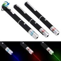 손전등 토치 레이저 포인터 높은 전원 650nm 녹색 532nm 블루 - 바이올렛 405nm 빨간색 펜 램프 빔 빛