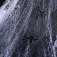 Хэллоуин Паутина Halloween Party Bar KTV Реквизит Эластичной Паутина паук Haunted House Украшение Моделирование Паутина BH2412 такой анкета