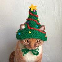 Weihnachten Haustier Katze Hüte Weihnachtsbaum Form Katze Hüte Haustier Urlaub Hüte Nette Haustier Kopfbedeckung Kostüm Welpen Katzen Kappe