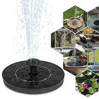 Güneş Enerjisi Su Çeşmesi Pompa 7V Solar Bahçe Fıskiye Pompası Kuş Banyosu Çeşmesi Su Yüzer Pond Veranda Dekor