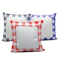 Sublime Izgara Yastık kılıfı Blank Isı Transfer Baskı Ekose pillowslip 15.7 * 15.7 İnç Kare Yastık kılıfı Ücretsiz Kargo A11